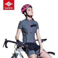Santic New Summer Women City Leisure Series Cycling Jersey Breathable  Moisture-wicking Short Sleeve Bike 186ab5e45
