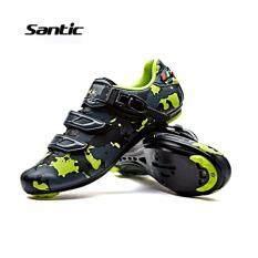 Santic Men Road Bike Cycling Shoes Look SPD-SL System Fluorescent Green