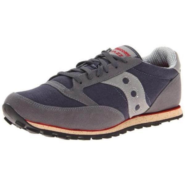 48915d8e Saucony Originals Mens Jazz Low Pro Vegan Fashion Sneaker,Grey/Red, US -