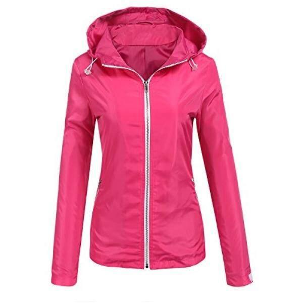 Se Miu Wanita Tahan Air Jaket Hujan Ringan Luar Ruangan Jas Hujan Bertudung-Intl