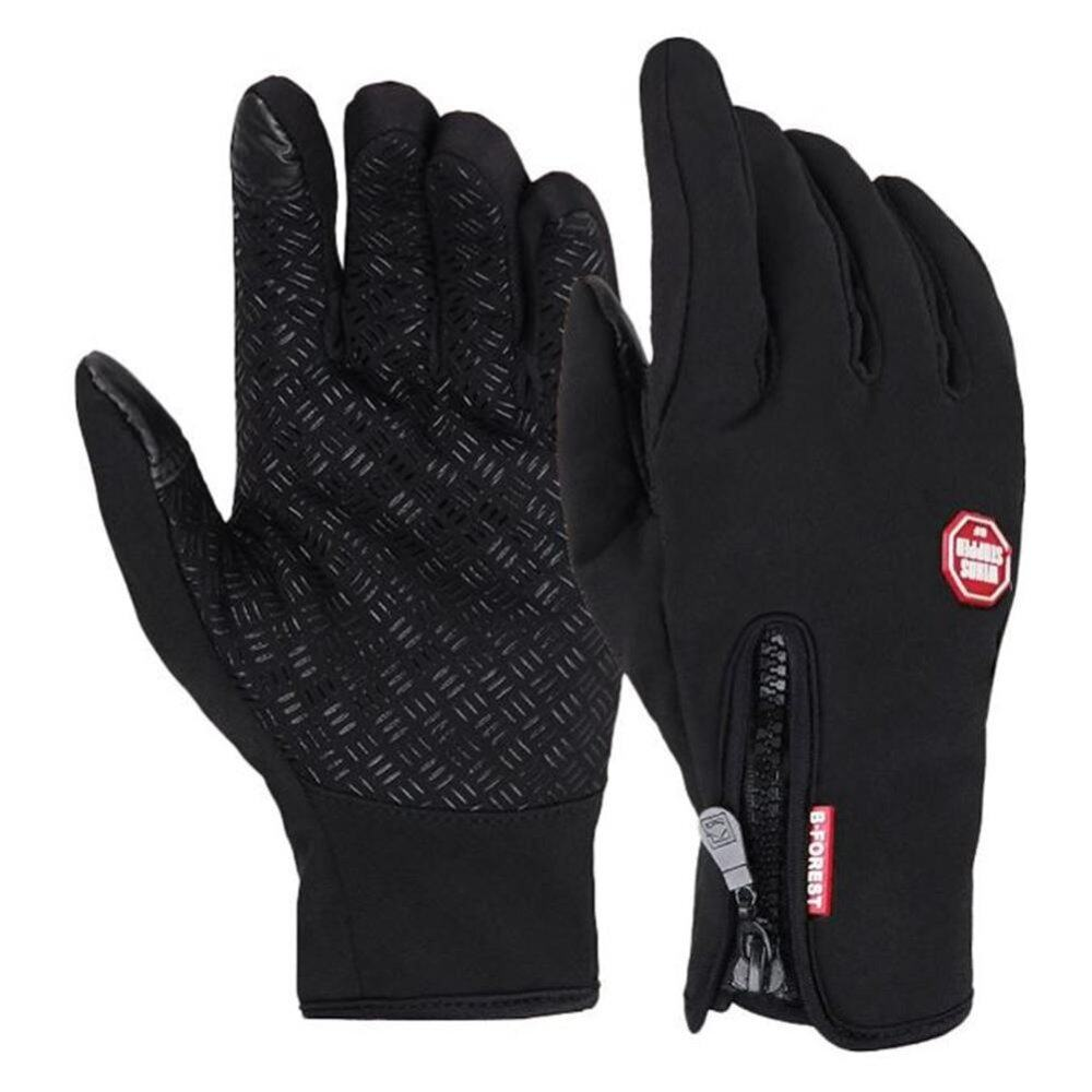 Veecome Silicone Palm Winter Windbreaker Cycling Glove Touch Screen Glove M Black For Outdoor - Intl By Veecome.