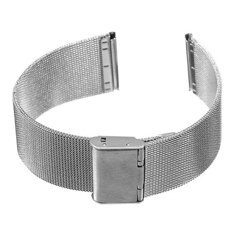 Silver Stainless Steel Watch Mesh Net Bracelets Straps Band 20mm Malaysia