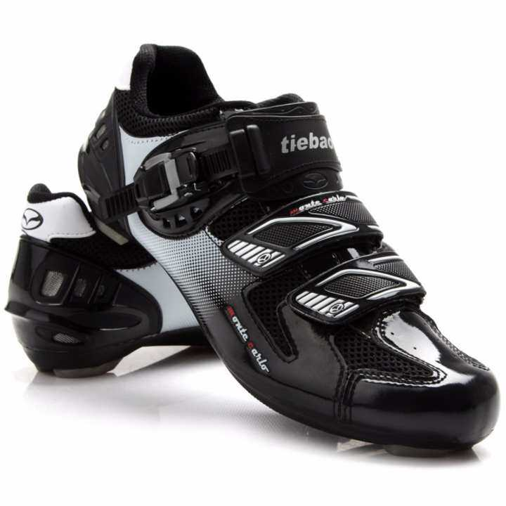Size 39-47 Road Cycling Shoes Nylon-Fiberglass Outsole Bike Shoes Straps & Buckle Closure System Bicycle Shoes
