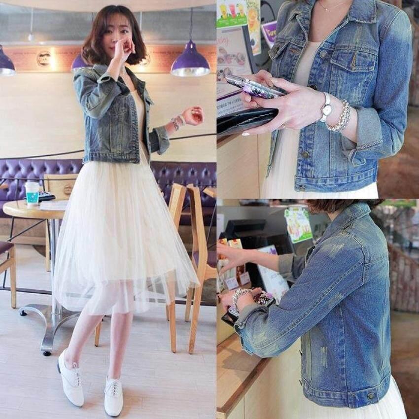 5831cdf1d23 ZTStore Size S-4Xl Women Denim Jackets Long Sleeve Short Jeans Jacket  Womandenim Coat -