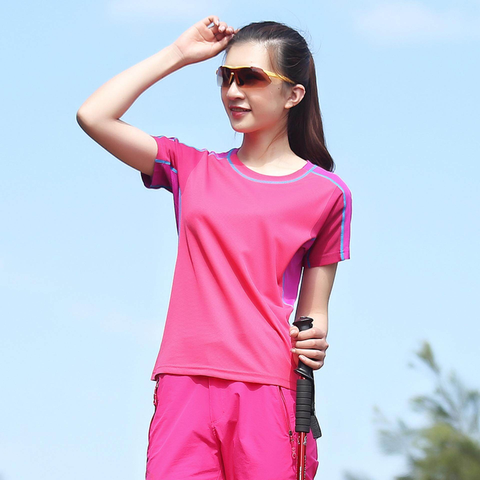 SK$SA Womens Outdoor Summer Quick-drying Breathable Women's Sport T-shirt