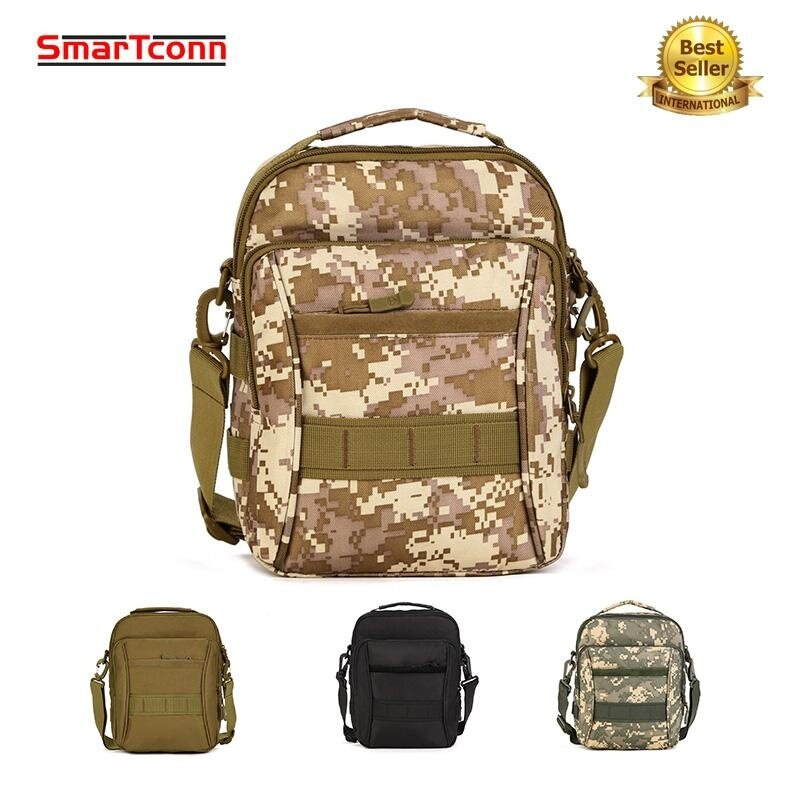 SmarTconn Military Tactical Backpack, Outdoor Leisure Sports Messenger Bag, Portable, Shoulder Bag, Square Waterproof Fashion Package - intl