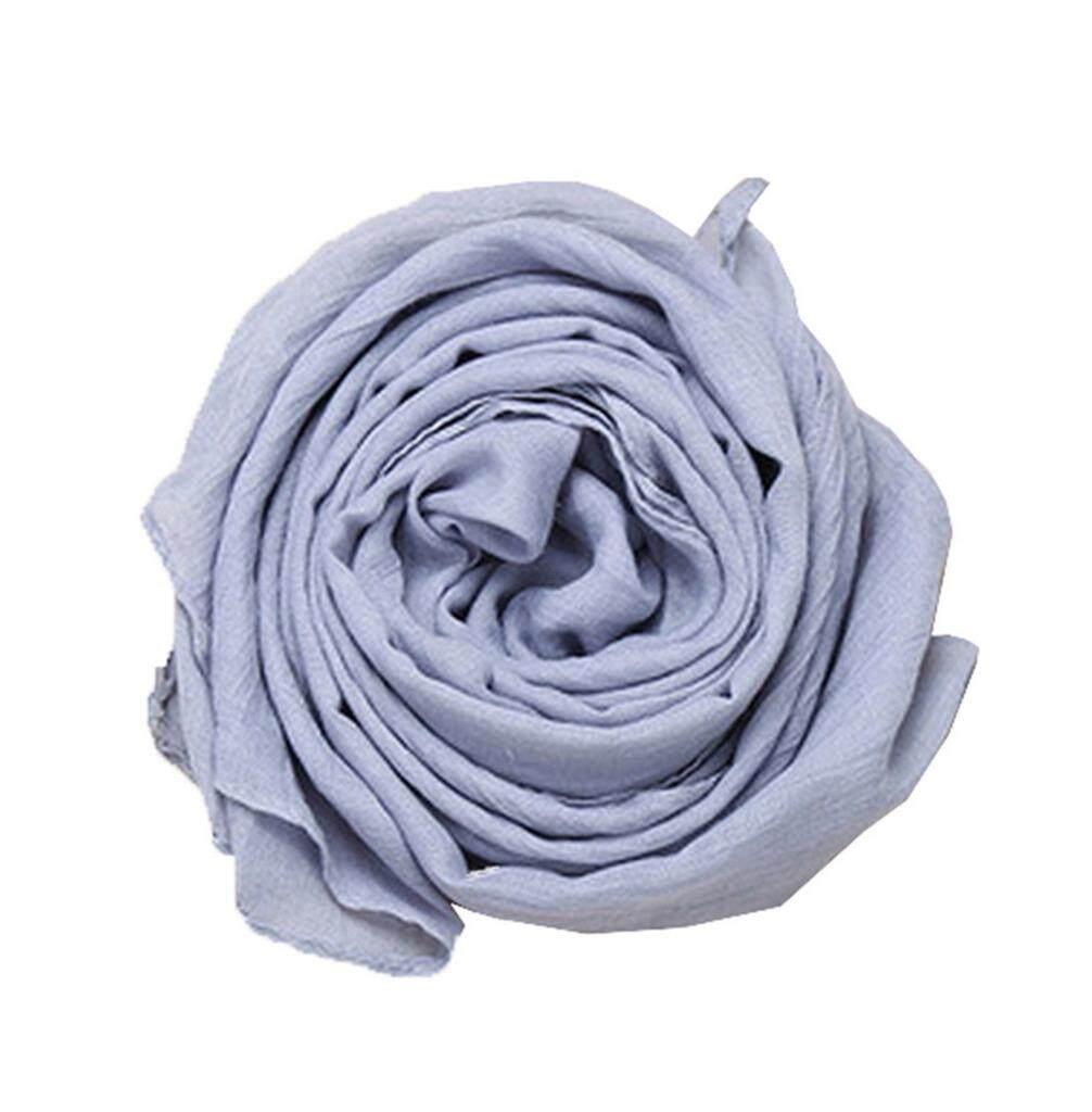 Smile YKK Children Winter Warm Cotton Linen Solid Scarf Shawl Light Grey - intl