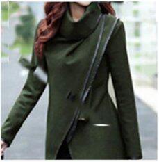 622aacdb65e Spring Autumn Hot Sale Irregular Asymmetry Long Trench Coat Women Overcoat  Womens Coats Manteau XXL(