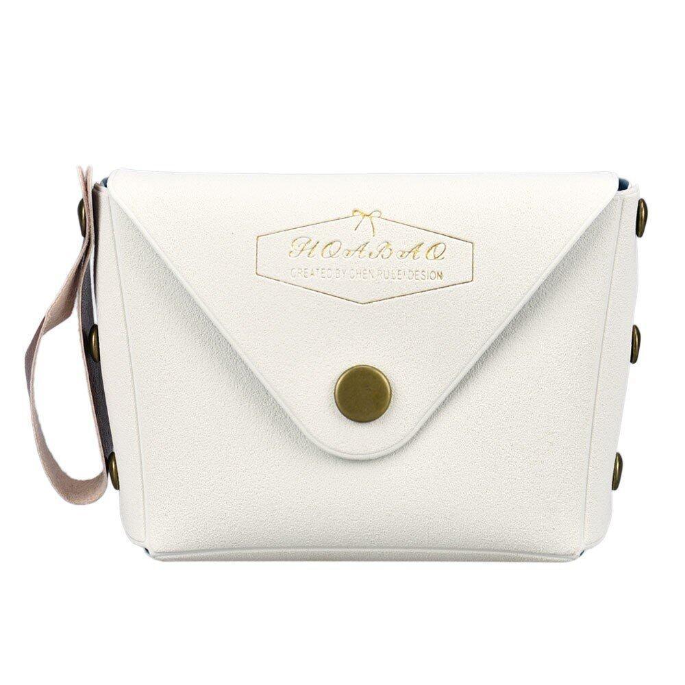 นักเรียน Macaron โบว์แฟชั่นกระเป๋าสตางค์สีขาว - Intl.