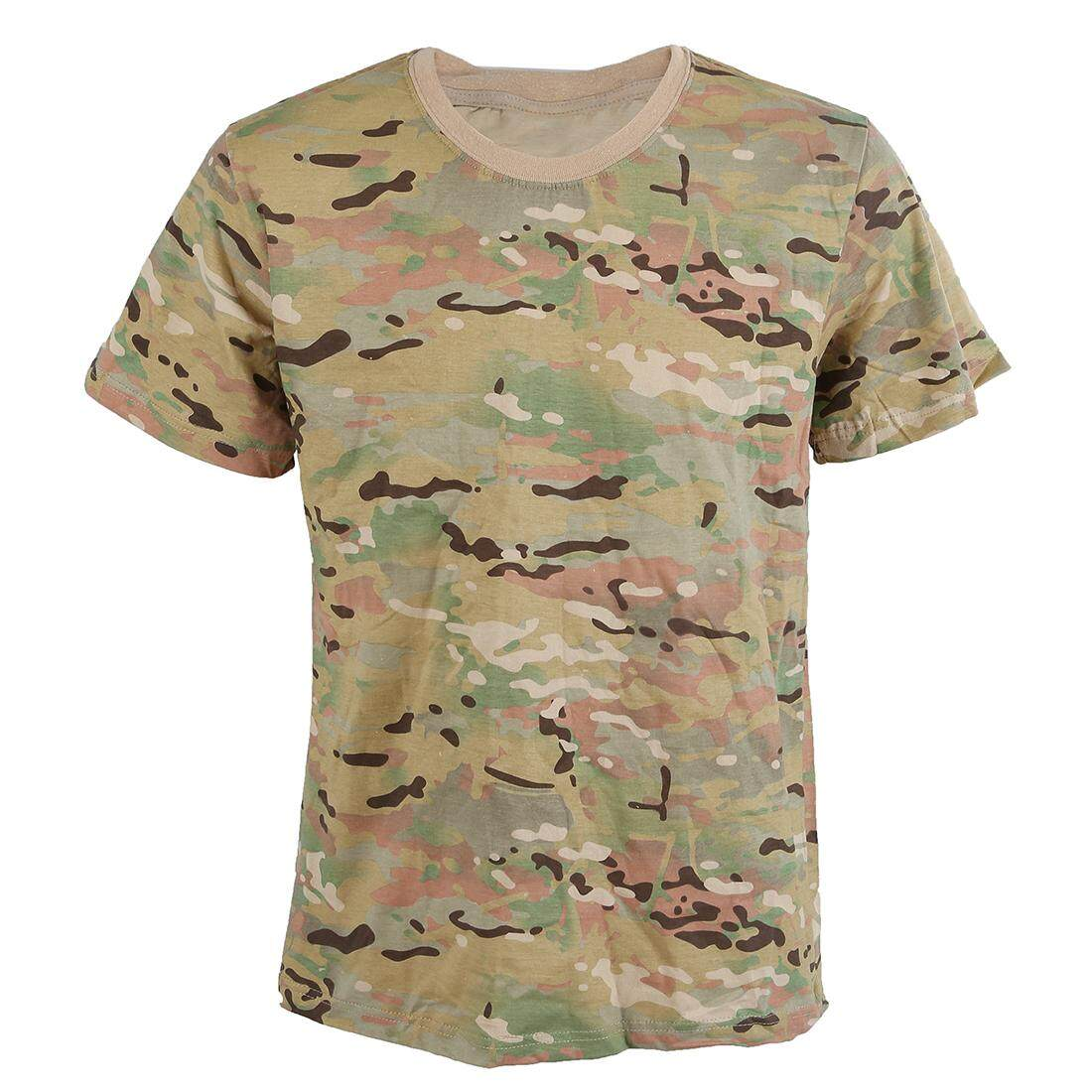 Summer Outdoors Hunting Camouflage T-shirt Men Breathable Army Tactical Combat T Shirt Military Dry Sport Camo Outdoor Camp Tees CP - intl