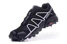 Summer SALOMON Speed Cross 4 Shoes Running and Hiking Men's (BlackWhite)