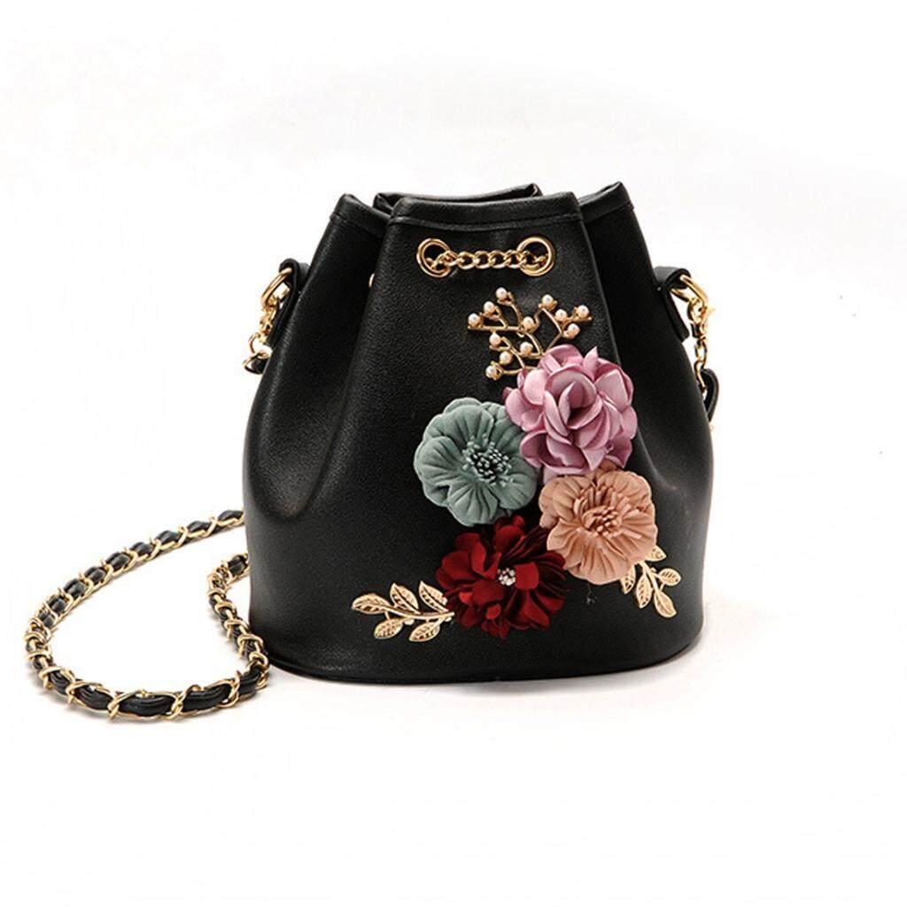 Buy Summer Women Flower Shoulder Satchel Messenger Cross Body Bucket Bag Handbag Intl Oem Original