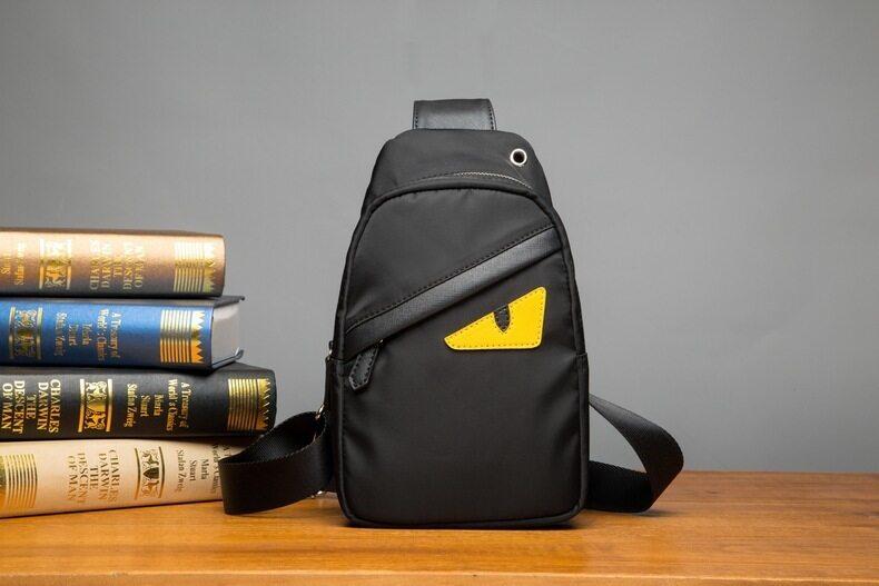 907dc0da22 Sunking Korean Nylon Men Crossbody Bag Leisure Chest Bag Men Outdoors  Backpack Men s Handbag (Black