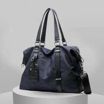 Sunking ใหม่กระเป๋าถือแฟชั่นเกาหลีไนลอนกระเป๋าไปเที่ยวกระเป๋าแบบพกพาผู้ชายกระเป๋าสะพายข้างกระเป๋าสะพายข้าง (สีฟ้า) - INTL-