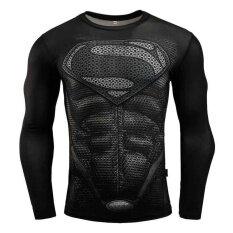 123e6db4815 2018 Superman 3D Printed T-shirts Compression Fitness Long Sleeve Shirt