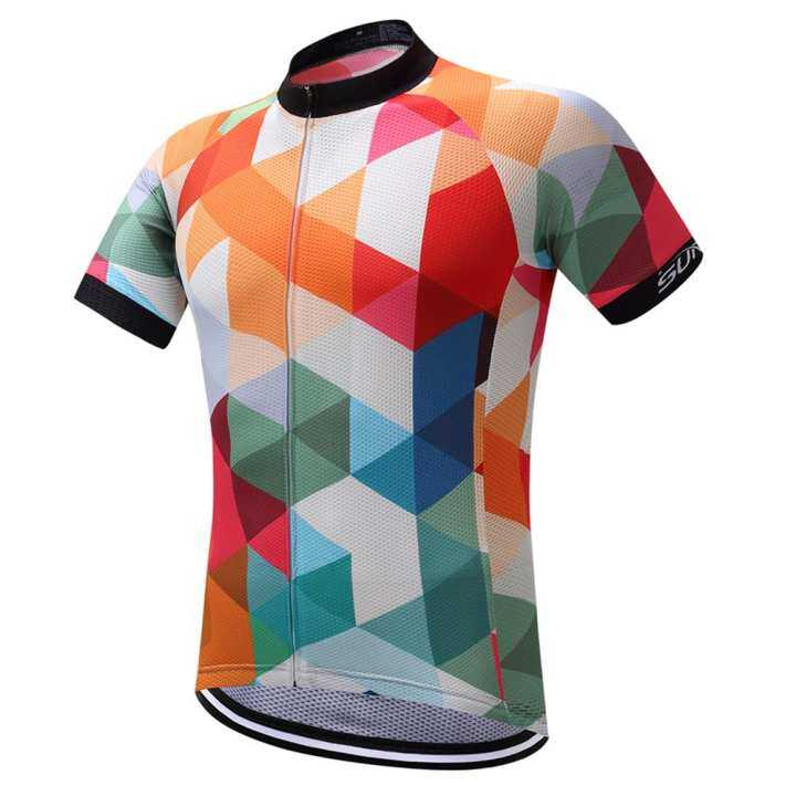 SUREA Summer Short Sleeves Breathable Cycling Jersey Quick Dry Pro Team Bike Wear Bicycle Clothes Clothing Ropa Ciclismo