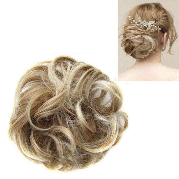 Synthetic Hair Flexible Scrunchie Bun Wrap For Wave Curly Hair Chignon Ponytail Lazada