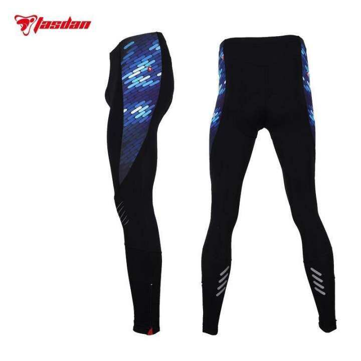 Tasdan Mens Compression Cycling Pants Mountain Bike Wear Clothing Winter Men's Cycling Pants for Sports Racing