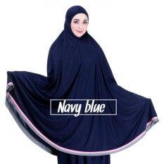 Telekung Arafah Lace Viscose (navy Blue) By Shopinn.
