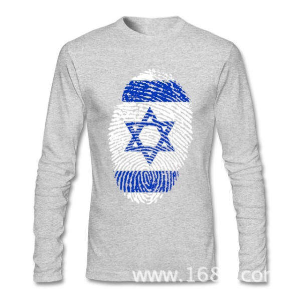 3efe385d845 Xinyu THW2 FREE SHIPPINGCool Israel Flag Fingerprint T-shirts For Men Low  Price Men Custom