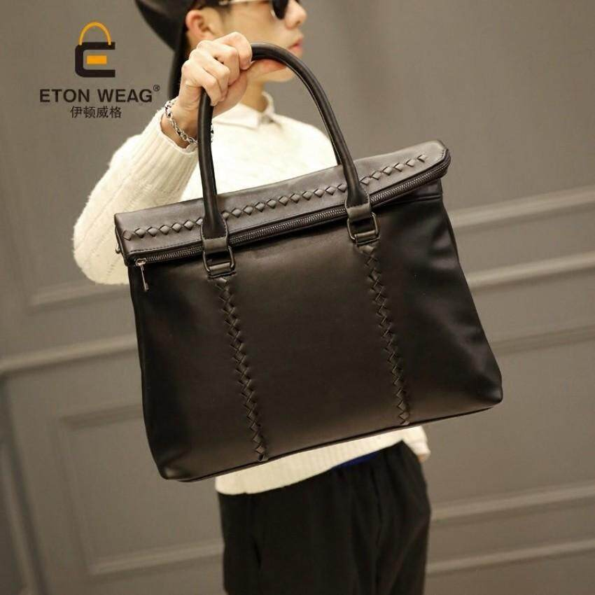 ... fashion Korea santai tas travel tas . Source · Tidog Pria Tas Tangan Tas Pria Kasual Tas Tas Tren Strip Bisnis Tote Tas -Internasional