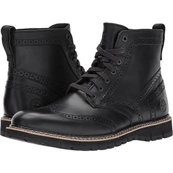 6f1c4db1357d75 Timberland Mens Britton Hill Wingtip Boots Black Old Harness - intl