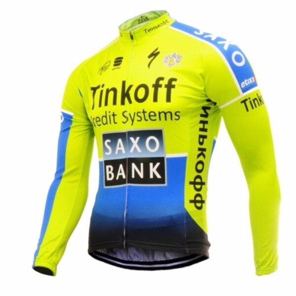 Hàng Sẵn Có Tinkoff Saxo Bank Áo Đi Xe Đạp Dài Tay-JT941 Racing Downhill Jerseys Đi Xe Đạp Jersey Xe Đạp Leo Núi Xe Máy Jerseys Quần Áo Thể Thao Quần Áo Đạp Xe Trang Phục Đi Xe Đạp/Quần/SetOutdoor Thể Thao