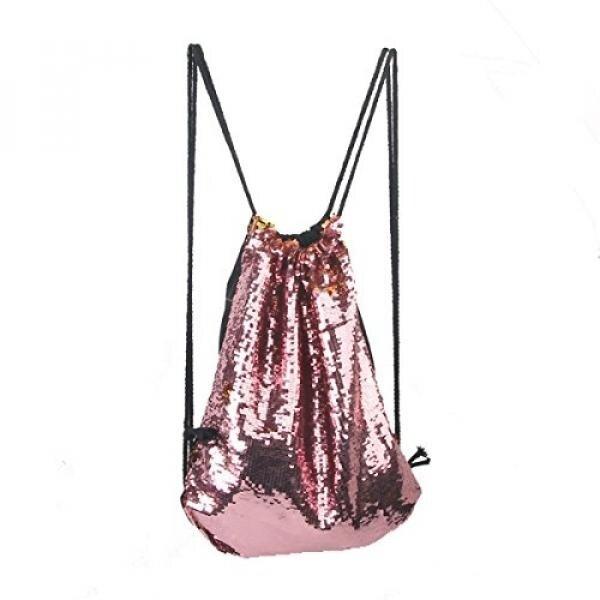 Tinksky Tas Serut Ransel Sequin untuk Olahraga Yoga Gym Latihan At Zalora Now!! Sackpack (Merah Muda)-Intl