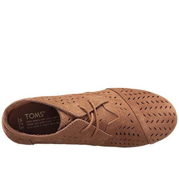 Toms Desert Wedges Toffee Suede Perforated Leaf 10009743 Womens 12 - intl