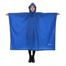 Tomshoo Multifunctional Lightweight Raincoat With Hood Hiking Cycling Rain Cover Poncho Rain Coat Outdoor Camping Tent Mat By Victory Team.