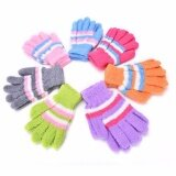 Top Kids Boys/Girls Rainbow Knit Warm Winter Gloves Full Finger Mittens
