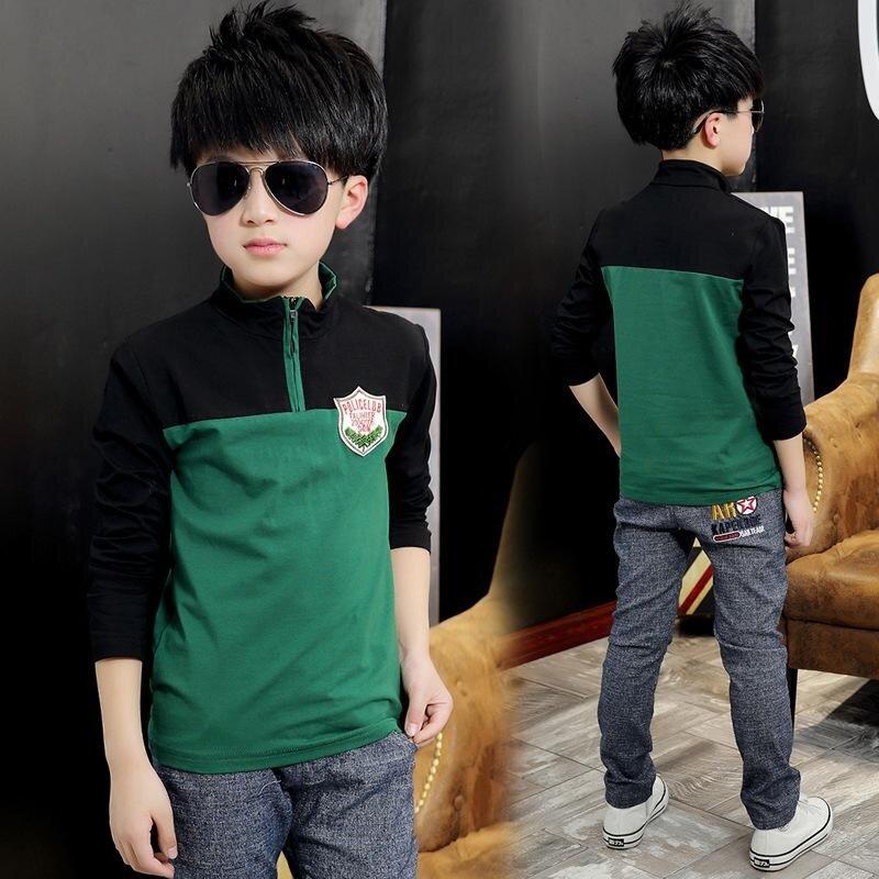 Top Quality Kids Boy Polo Shirts School Uniform Shirt Boys Clothing Cotton Kids Clothes - intl