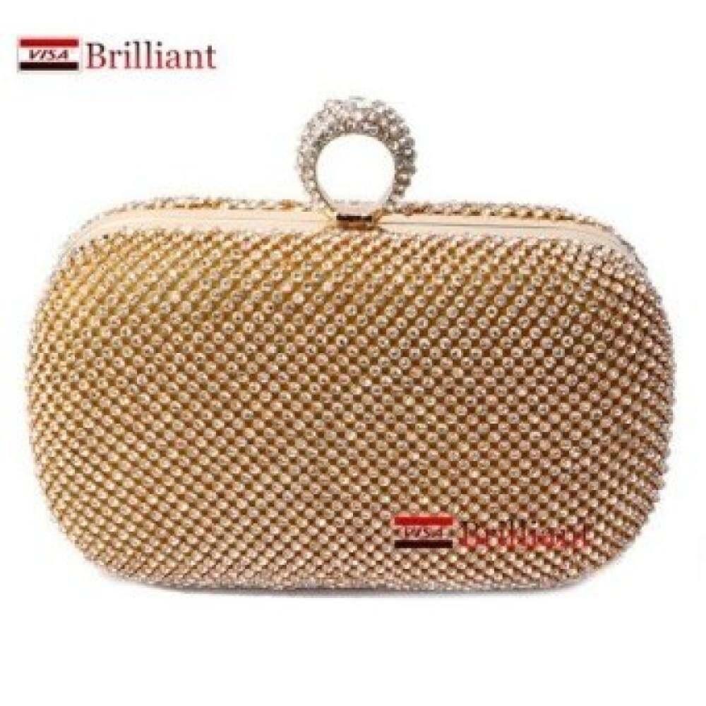 Top rate Full Diamond evening bag Luxury women s rhinestone day clutch  female Handbag Hot Bride Wedding debd248440