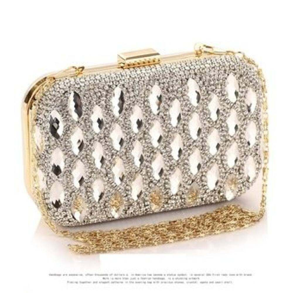 Top rate Luxury Glass diamonds women party handbag Brand fashion evening  bags full Diamond Shiny clutch bf2780af78