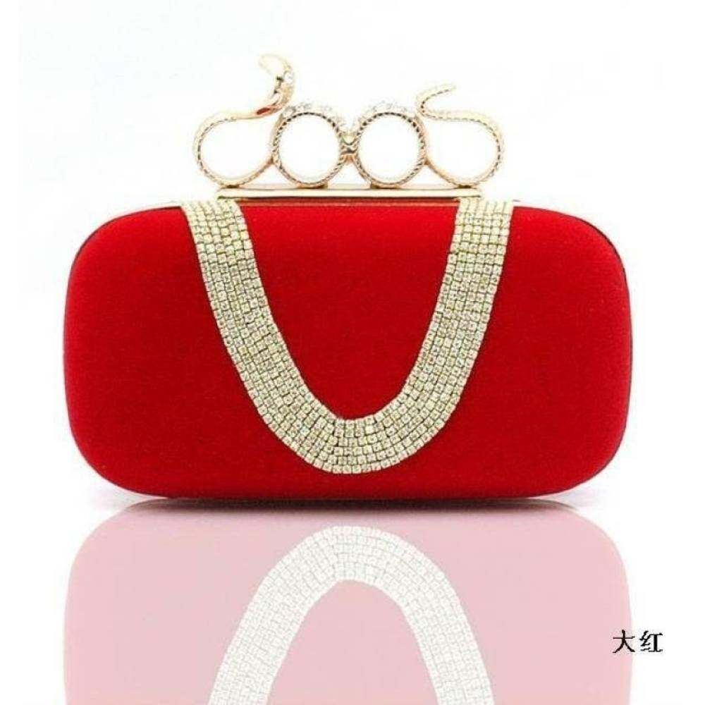 Top rate Women Clutch Bag Bridal Wedding Evening Party Purse Handbag Red