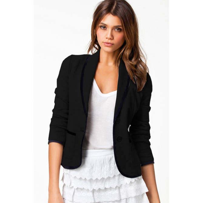 ... Toprank Jacket Blazer Women Slim Design Suit Long Sleeve Lapel Coat Blazer Grey