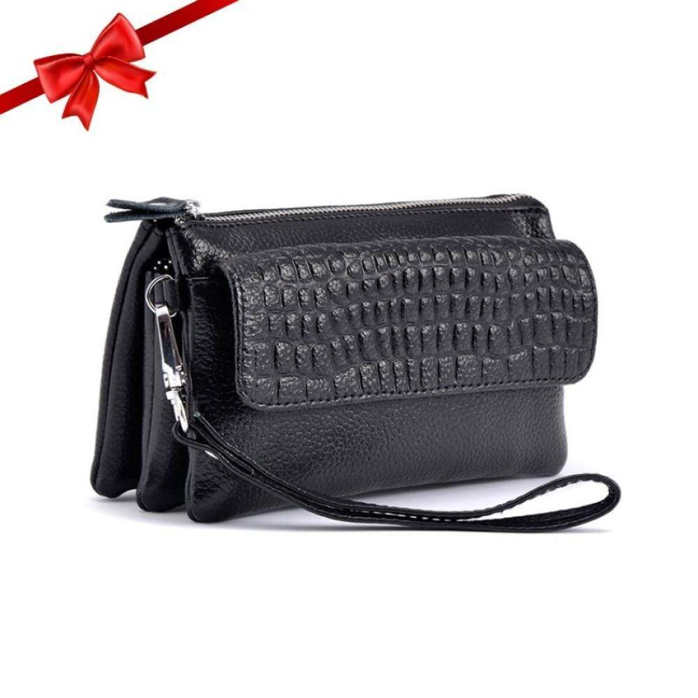 Toprate Vintage Handbags Womens Large Capacity Leather Wristlet Clutch