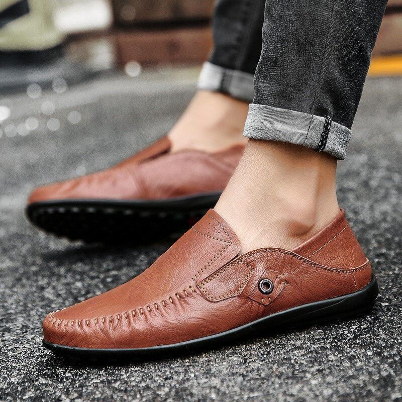 Pola Pohon Kulit Sepatu Pria Kacang Polong Sepatu Tren Bisnis Mobil Sepatu  Kasual Sepatu Luar Ruangan 1a8d3e10cd