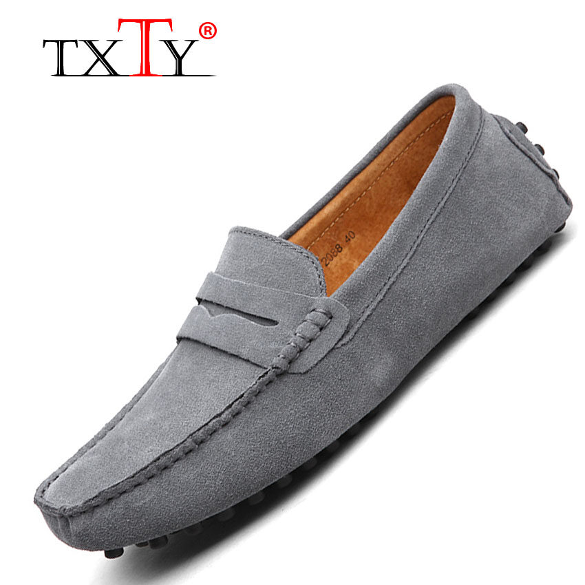 Compare Price Txty Men S Light Slip On Flats Shoes Man Casual Boat Peas Shoe Men S Male Shoe Size 38 49 9Color Grey Intl Txty On China