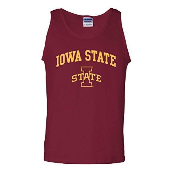 UGP Kampus Pakaian UGP Kampus Pakaian AT03-Iowa State Cyclones Lengkungan LOGO Pria Tangki Terbaik-Kardinal-Internasional