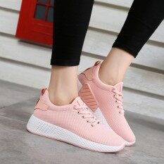 Women's Korean-style Breathable Sneakers (Pink) (Pink)
