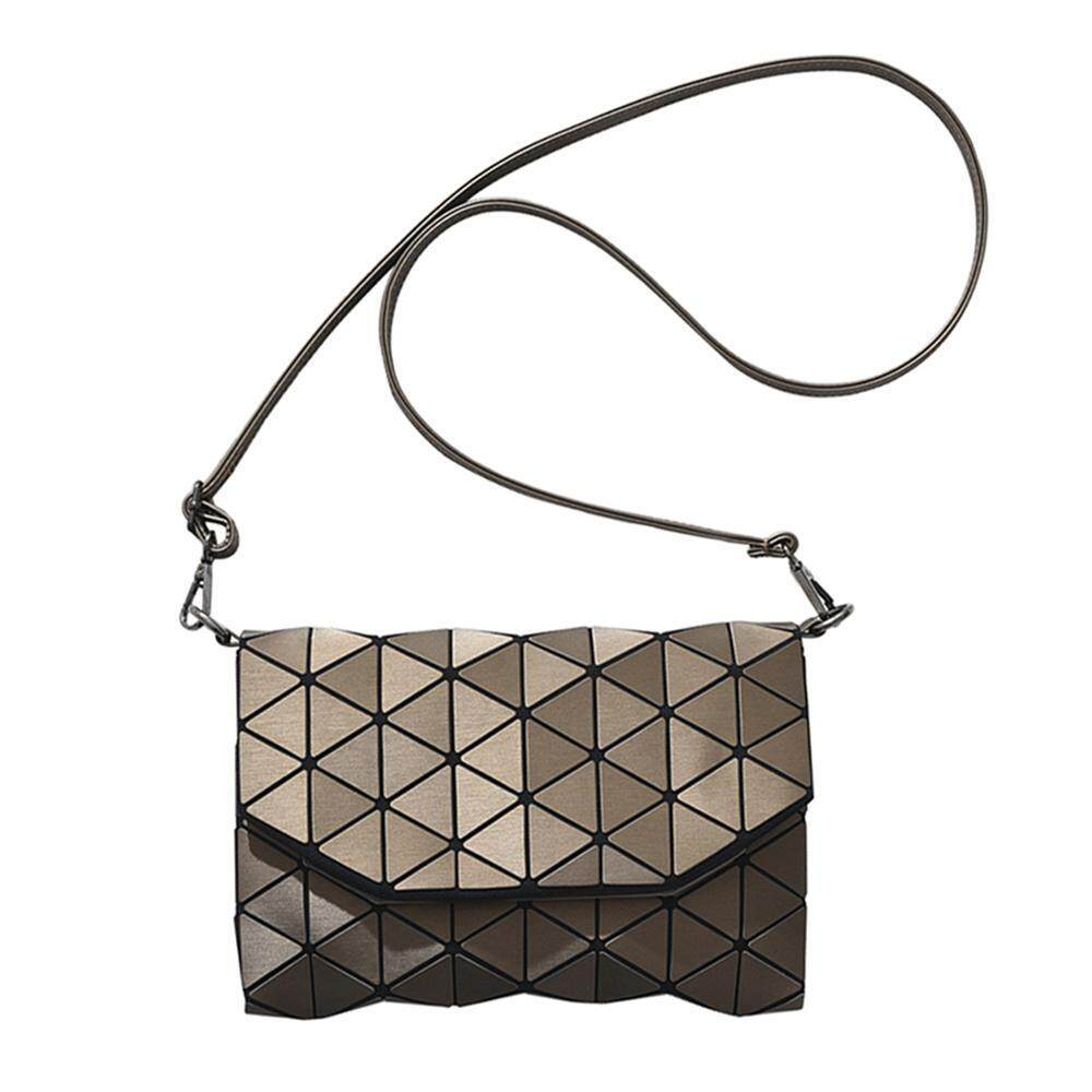 Buy Umiwe Women Fashion Geometric Lattice Pu Leather Crossbody Shoulder Bag Messenger Bag Bronze Intl Umiwe Original