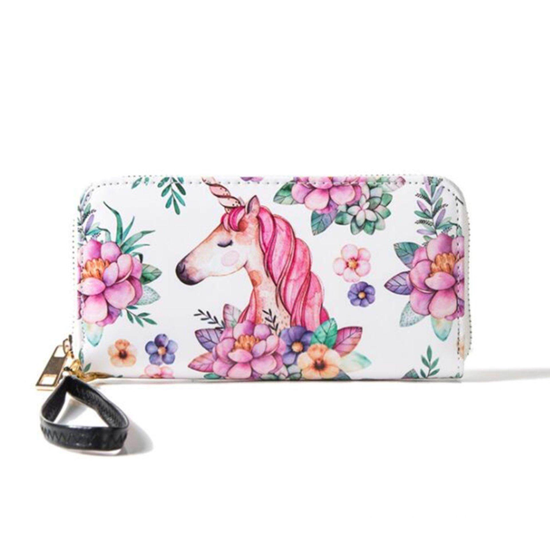 Buying Unicorn Women Long Leather Wallet Clutch Purse Card Holder Phone Zipper Handbag Intl
