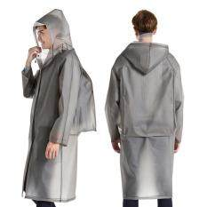 Unisex Adult Raincoat Eva Thick Rainwear Rain Poncho With Hood & Backpack Cover For Men And Women By Trait-Tech Trade Center.