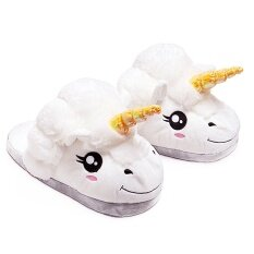 05cf8a656e3f Unisex Cartoon Unicorn Style Winter Indoor Anti-slip Plush Slipper Soft  Warm Plush Slippers Average