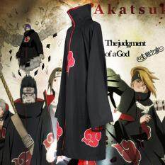 Unisex Cosplay Costumes Japan Anime Naruto Itachi Akatsuki Cosplay Robes Cloak Cape Hood Coat Party Costumes Clothing
