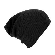 55a20341633 Unisex Men Hip-Hop Warm Winter Wool Knit Ski Beanie Skull Slouchy Cap Hat  Black