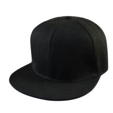 f69e75687ce Unisex Men s Hip-Hop adjustable Snapback Hats Baseball Cap Black