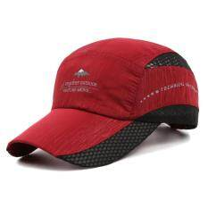 9727e696ca6 Unisex Summer Breathable Casual Adjustable Baseball Caps Golf Hat Quick Dry  Hat(Red)