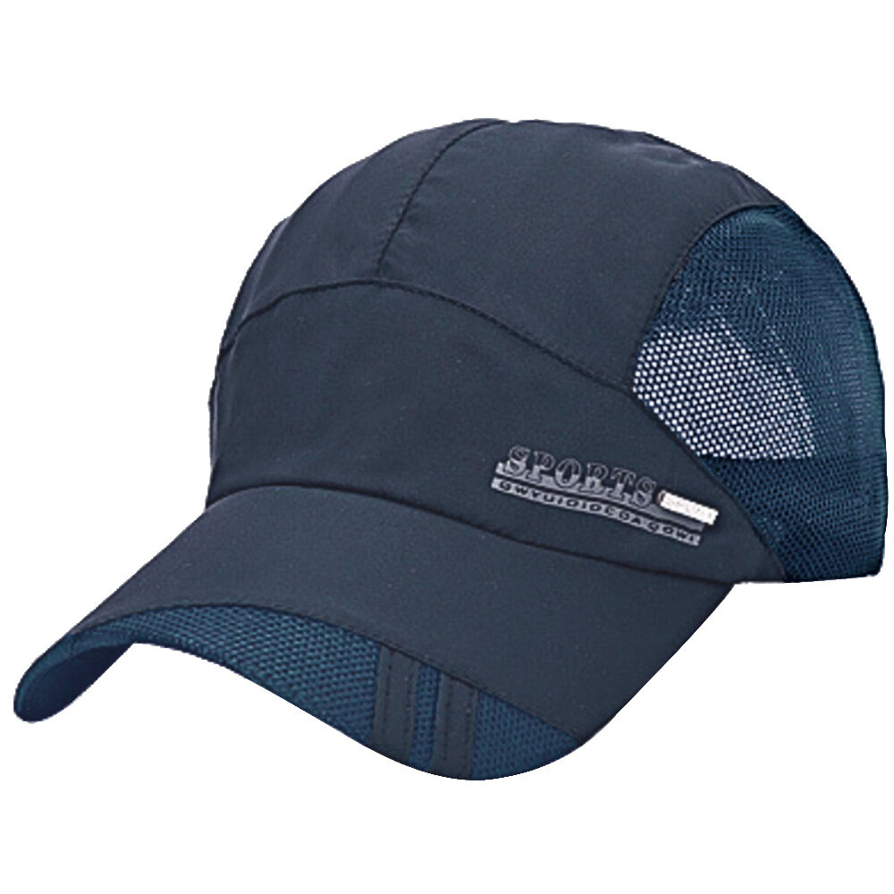 Buy Sell Cheapest Zb Wet Dry Best Quality Product Deals Goon Excellent Nb 48 Unisex Summer Outdoor Sport Breathable Quick Baseball Caps Solid Adjustable Sun Visor Hat Navy